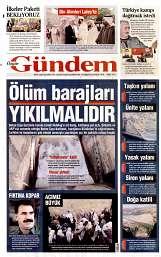 26 Ağustos 2014 Tarihli Özgür Gündem Gazetesi