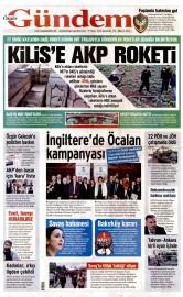 27 Nisan 2016 Tarihli Özgür Gündem Gazetesi