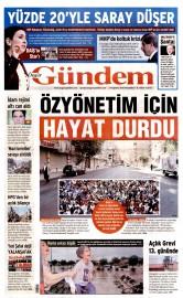 27 A�ustos 2015 Tarihli �zg�r G�ndem Gazetesi
