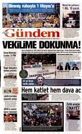 28 Nisan 2016 Tarihli Özgür Gündem Gazetesi