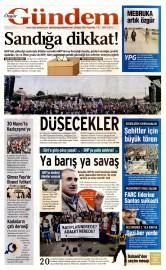 28 May�s 2015 Tarihli �zg�r G�ndem Gazetesi