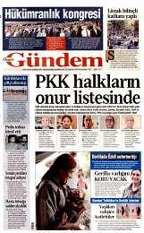 28 Ağustos 2014 Tarihli Özgür Gündem Gazetesi