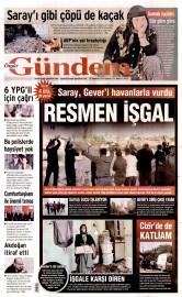 28 A�ustos 2015 Tarihli �zg�r G�ndem Gazetesi