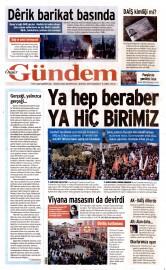 28 Kas�m 2015 Tarihli �zg�r G�ndem Gazetesi