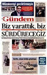 29 Ağustos 2014 Tarihli Özgür Gündem Gazetesi
