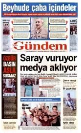 29 Eyl�l 2015 Tarihli �zg�r G�ndem Gazetesi