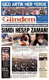 30 May�s 2015 Tarihli �zg�r G�ndem Gazetesi