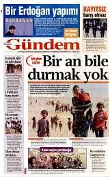 30 Ağustos 2014 Tarihli Özgür Gündem Gazetesi