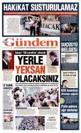 30 Eyl�l 2015 Tarihli �zg�r G�ndem Gazetesi