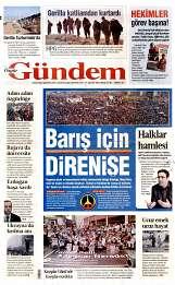 31 Ağustos 2014 Tarihli Özgür Gündem Gazetesi