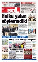 08 Ağustos 2014 Tarihli soL Gazetesi