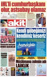 01 Mayıs 2016 Tarihli Yeni Akit Gazetesi