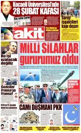 01 Haziran 2016 Tarihli Yeni Akit Gazetesi
