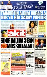 01 Temmuz 2015 Tarihli Yeni Akit Gazetesi