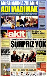 02 Temmuz 2015 Tarihli Yeni Akit Gazetesi