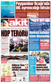 03 Mayıs 2016 Tarihli Yeni Akit Gazetesi