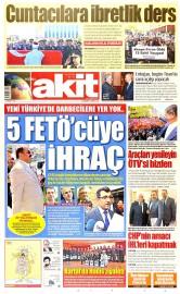 13 May�s 2015 Tarihli Yeni Akit Gazetesi