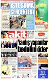 15 May�s 2015 Tarihli Yeni Akit Gazetesi