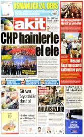 16 May�s 2015 Tarihli Yeni Akit Gazetesi