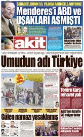 18 Eylül 2016 Tarihli Yeni Akit Gazetesi
