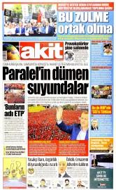 19 May�s 2015 Tarihli Yeni Akit Gazetesi