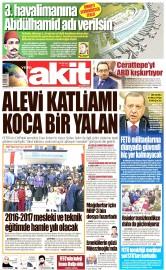 20 Eylül 2016 Tarihli Yeni Akit Gazetesi