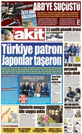 21 Ağustos 2016 Tarihli Yeni Akit Gazetesi
