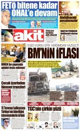 21 Eylül 2016 Tarihli Yeni Akit Gazetesi