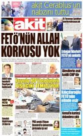 22 Eylül 2016 Tarihli Yeni Akit Gazetesi