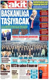 23 Mayıs 2016 Tarihli Yeni Akit Gazetesi