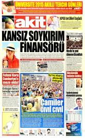 23 Haziran 2015 Tarihli Yeni Akit Gazetesi