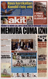 23 A�ustos 2015 Tarihli Yeni Akit Gazetesi