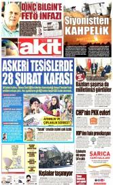 23 Ağustos 2016 Tarihli Yeni Akit Gazetesi