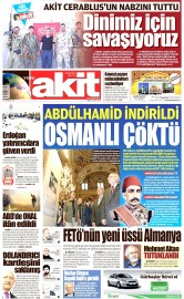 23 Eylül 2016 Tarihli Yeni Akit Gazetesi