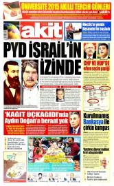 24 Haziran 2015 Tarihli Yeni Akit Gazetesi