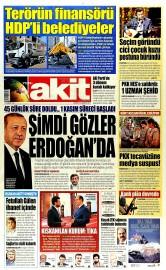 24 A�ustos 2015 Tarihli Yeni Akit Gazetesi