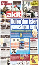 24 Ağustos 2016 Tarihli Yeni Akit Gazetesi