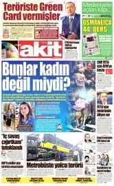 24 Eylül 2016 Tarihli Yeni Akit Gazetesi