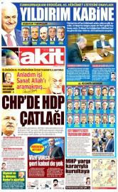 25 Mayıs 2016 Tarihli Yeni Akit Gazetesi