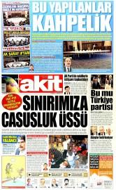 25 Haziran 2015 Tarihli Yeni Akit Gazetesi