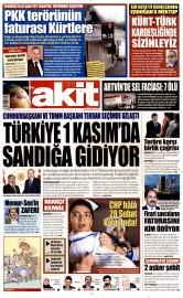 25 A�ustos 2015 Tarihli Yeni Akit Gazetesi