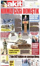 25 Ağustos 2016 Tarihli Yeni Akit Gazetesi