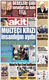 25 Eylül 2016 Tarihli Yeni Akit Gazetesi