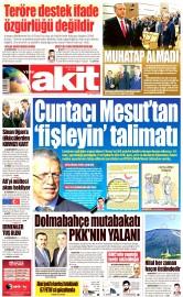 26 Nisan 2016 Tarihli Yeni Akit Gazetesi