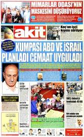26 Haziran 2015 Tarihli Yeni Akit Gazetesi