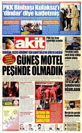 26 A�ustos 2015 Tarihli Yeni Akit Gazetesi