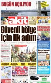 26 Ağustos 2016 Tarihli Yeni Akit Gazetesi