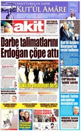 27 Nisan 2016 Tarihli Yeni Akit Gazetesi