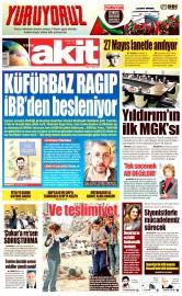 27 Mayıs 2016 Tarihli Yeni Akit Gazetesi