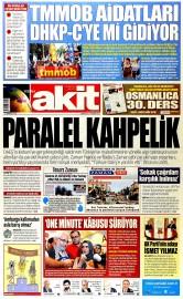 27 Haziran 2015 Tarihli Yeni Akit Gazetesi